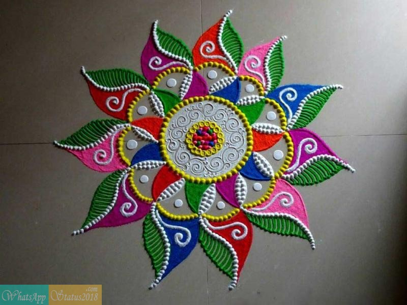 Latest Rangoli Designs Images 2019 for Diwali